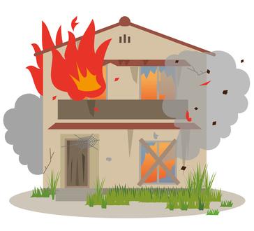 火災になった空き家