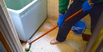 遺品整理後の清掃作業