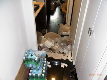 特殊清掃 事例 玄関
