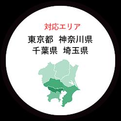 対応エリア 東京都・神奈川県・千葉県・埼玉県